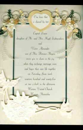 Kw1 Framed Wedding Invitation