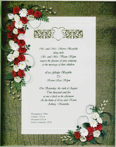 KW1 Framed Wedding Invitation